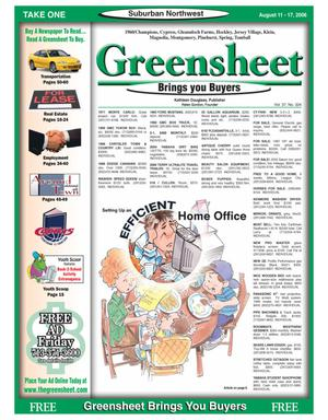 Primary view of object titled 'Greensheet (Houston, Tex.), Vol. 37, No. 324, Ed. 1 Friday, August 11, 2006'.