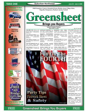 Primary view of object titled 'Greensheet (Houston, Tex.), Vol. 37, No. 252, Ed. 1 Friday, June 30, 2006'.