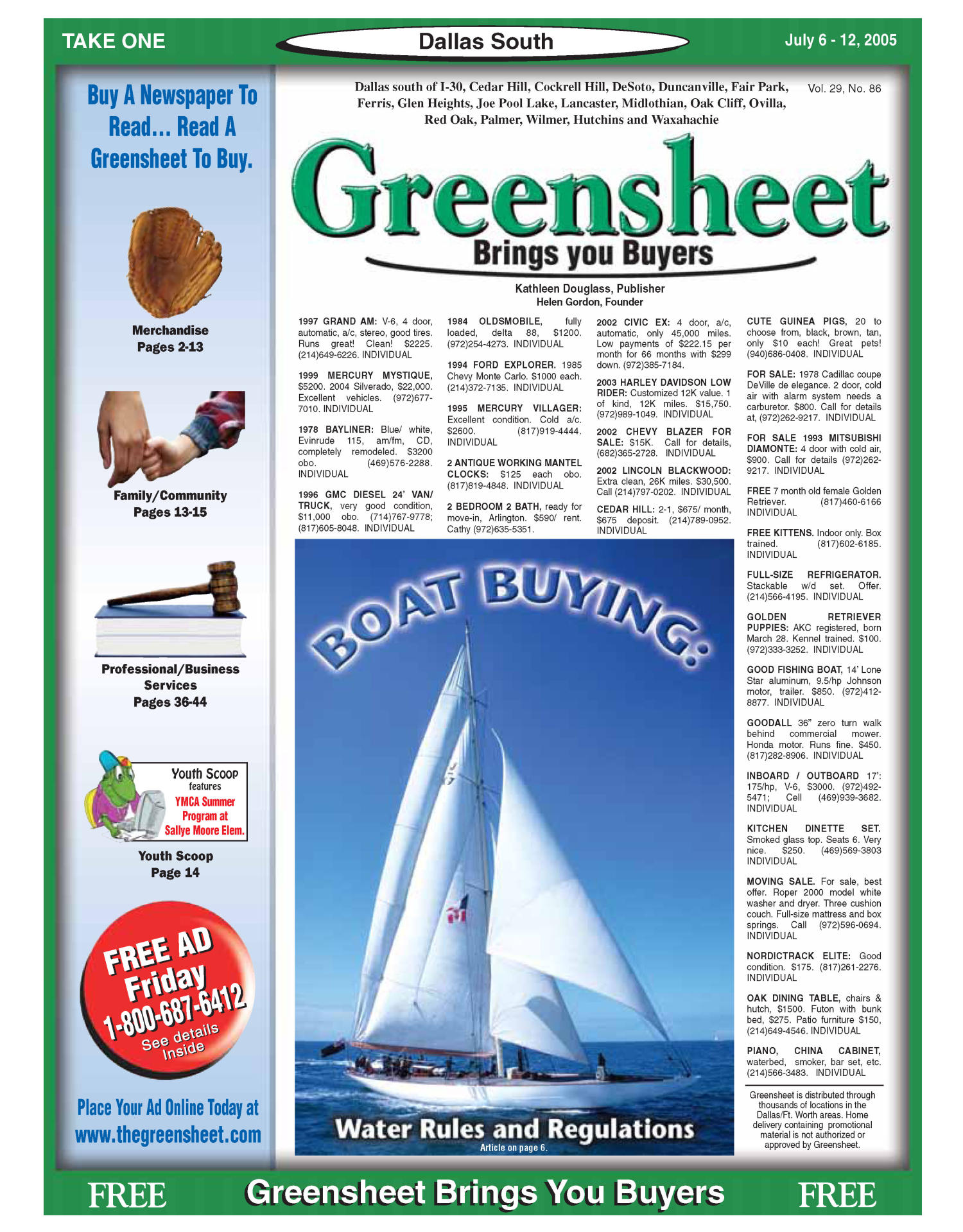 Greensheet (Dallas, Tex.), Vol. 29, No. 86, Ed. 1 Wednesday, July 6, 2005                                                                                                      [Sequence #]: 1 of 60
