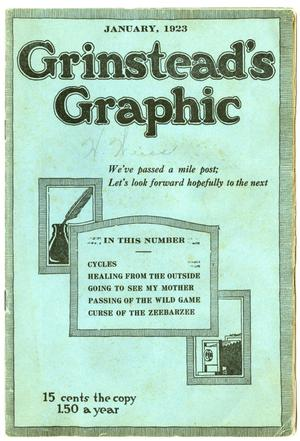 Primary view of object titled 'Grinstead's Graphic, January 1923'.