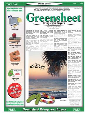 Primary view of object titled 'Greensheet (Dallas, Tex.), Vol. 29, No. 51, Ed. 1 Wednesday, June 1, 2005'.