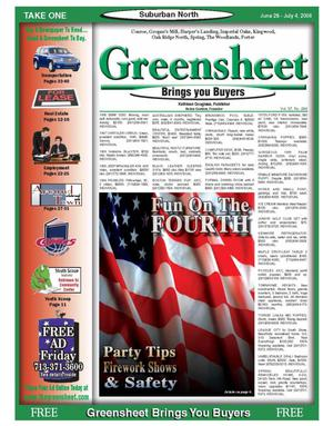 Primary view of object titled 'Greensheet (Houston, Tex.), Vol. 37, No. 246, Ed. 1 Wednesday, June 28, 2006'.