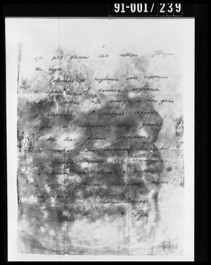 Primary view of object titled 'Handwritten Document Removed from Oswald's Home'.