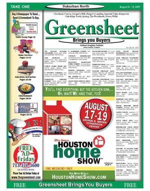 Primary view of object titled 'Greensheet (Houston, Tex.), Vol. 38, No. 318, Ed. 1 Wednesday, August 8, 2007'.