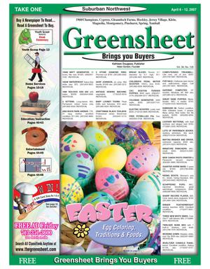 Primary view of object titled 'Greensheet (Houston, Tex.), Vol. 38, No. 108, Ed. 1 Friday, April 6, 2007'.