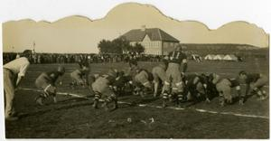Primary view of object titled '1930's Football Game with Spectators'.