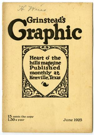 Primary view of object titled 'Grinstead's Graphic, June, 1925'.