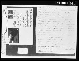 Opened Envelope and Document Removed from Oswald's Home