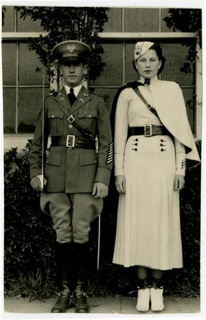 Primary view of object titled 'Cadet Corp Battalion Commander Dayton Stockton and Battalion Sponsor Irene Jackson'.