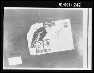 Primary view of object titled 'Opened Envelope Removed from Oswald's Home'.