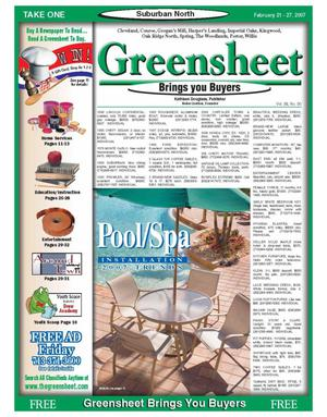 Primary view of object titled 'Greensheet (Houston, Tex.), Vol. 38, No. 30, Ed. 1 Wednesday, February 21, 2007'.