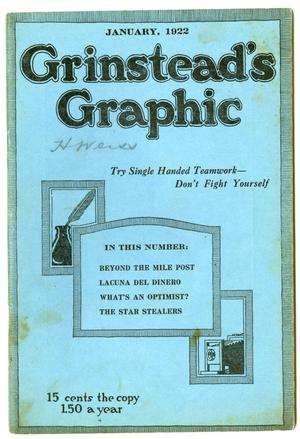 Primary view of object titled 'Grinstead's Graphic, January 1922'.