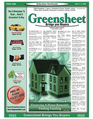 Primary view of object titled 'Greensheet (Houston, Tex.), Vol. 36, No. 108, Ed. 1 Friday, April 8, 2005'.