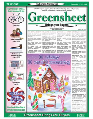 Primary view of object titled 'Greensheet (Houston, Tex.), Vol. 37, No. 540, Ed. 1 Friday, December 15, 2006'.