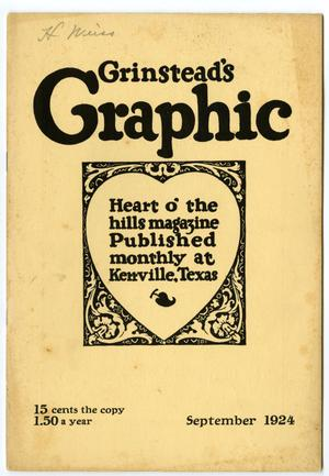 Primary view of object titled 'Grinstead's Graphic, September, 1924'.