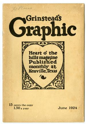 Primary view of object titled 'Grinstead's Graphic, June, 1924'.