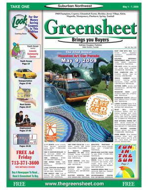 Primary view of object titled 'Greensheet (Houston, Tex.), Vol. 40, No. 156, Ed. 1 Friday, May 1, 2009'.