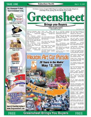 Primary view of object titled 'Greensheet (Houston, Tex.), Vol. 38, No. 162, Ed. 1 Wednesday, May 9, 2007'.