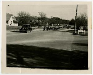 Primary view of object titled 'Marching Band Coming Down a Street'.