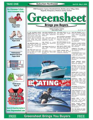 Primary view of object titled 'Greensheet (Houston, Tex.), Vol. 37, No. 144, Ed. 1 Friday, April 28, 2006'.