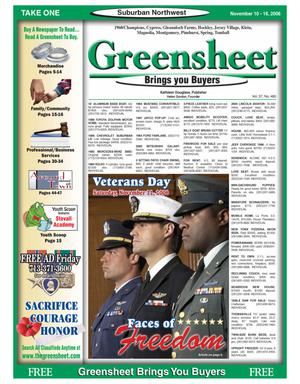 Primary view of object titled 'Greensheet (Houston, Tex.), Vol. 37, No. 480, Ed. 1 Friday, November 10, 2006'.
