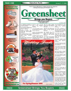 Primary view of object titled 'Greensheet (Houston, Tex.), Vol. 36, No. 582, Ed. 1 Wednesday, January 11, 2006'.