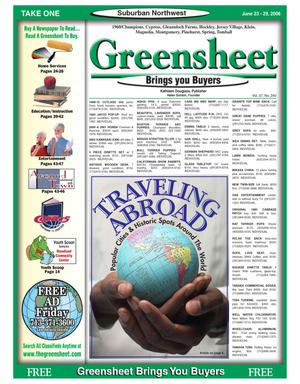 Primary view of object titled 'Greensheet (Houston, Tex.), Vol. 37, No. 240, Ed. 1 Friday, June 23, 2006'.