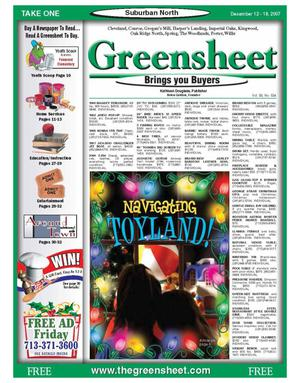 Primary view of object titled 'Greensheet (Houston, Tex.), Vol. 38, No. 534, Ed. 1 Wednesday, December 12, 2007'.