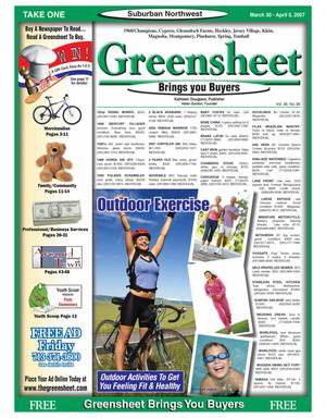 Primary view of object titled 'Greensheet (Houston, Tex.), Vol. 38, No. 96, Ed. 1 Friday, March 30, 2007'.