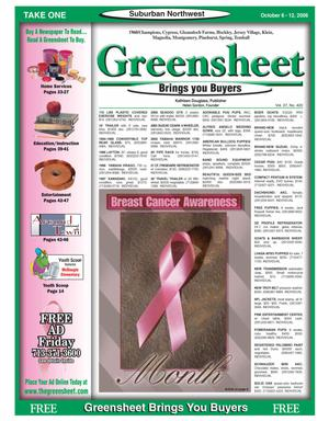 Primary view of object titled 'Greensheet (Houston, Tex.), Vol. 37, No. 420, Ed. 1 Friday, October 6, 2006'.