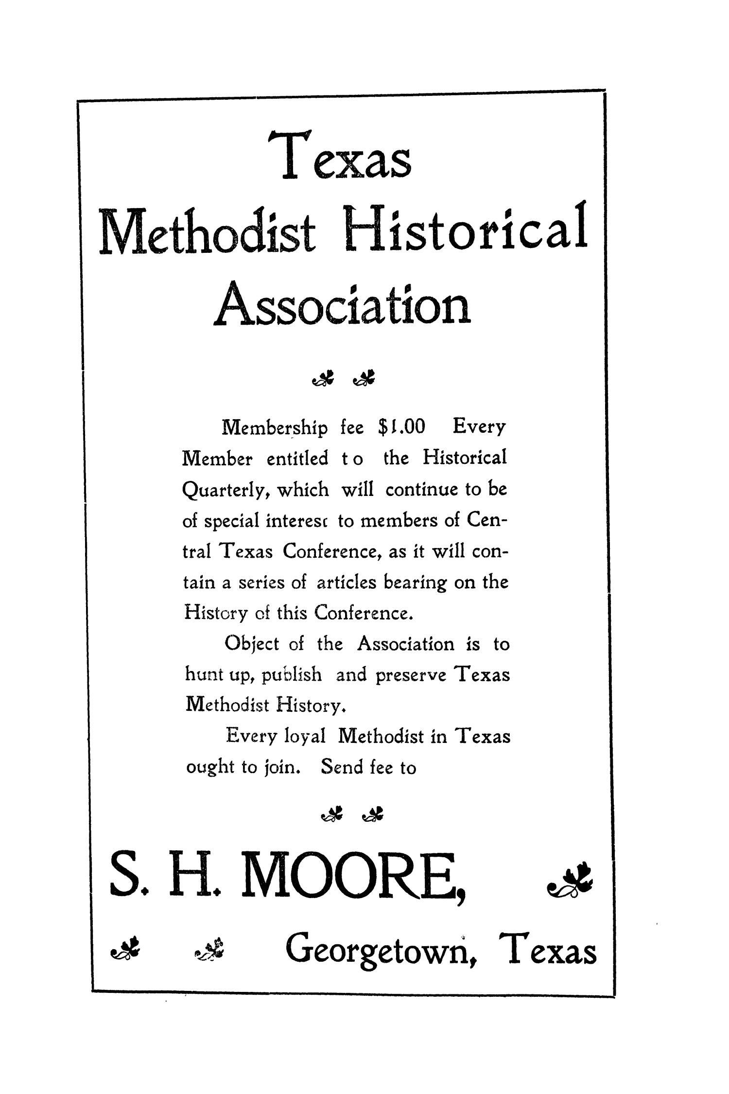 Journal of the Central Texas Conference, First Annual Session, Methodist Episcopal Church South                                                                                                      87