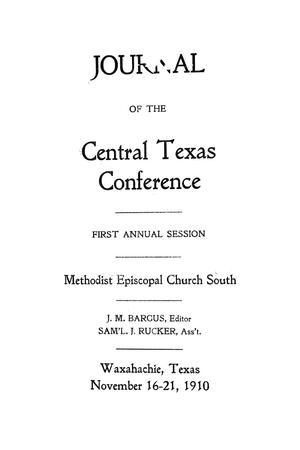 Journal of the Central Texas Conference, First Annual Session, Methodist Episcopal Church South