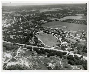 Primary view of object titled 'Pre-1956 Aerial View of Campus'.