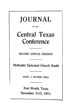 Primary view of object titled 'Journal of the Central Texas Conference, Second Annual Session, Methodist Episcopal Church South'.
