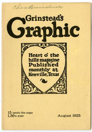 Primary view of Grinstead's Graphic, August, 1925