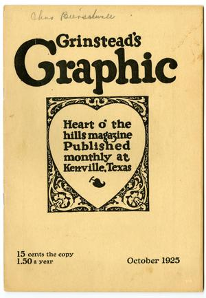 Primary view of object titled 'Grinstead's Graphic, October, 1925'.