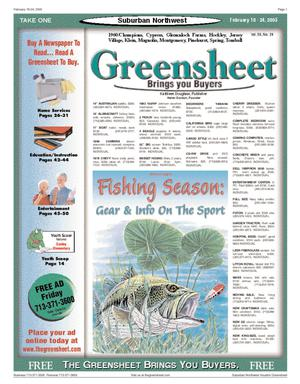 Primary view of object titled 'Greensheet (Houston, Tex.), Vol. 36, No. 24, Ed. 1 Friday, February 18, 2005'.