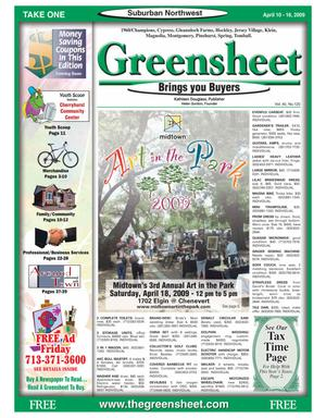 Primary view of object titled 'Greensheet (Houston, Tex.), Vol. 40, No. 120, Ed. 1 Friday, April 10, 2009'.