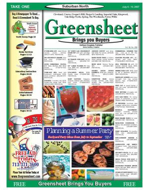 Primary view of object titled 'Greensheet (Houston, Tex.), Vol. 38, No. 258, Ed. 1 Wednesday, July 4, 2007'.