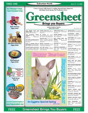Primary view of object titled 'Greensheet (Houston, Tex.), Vol. 37, No. 114, Ed. 1 Wednesday, April 12, 2006'.