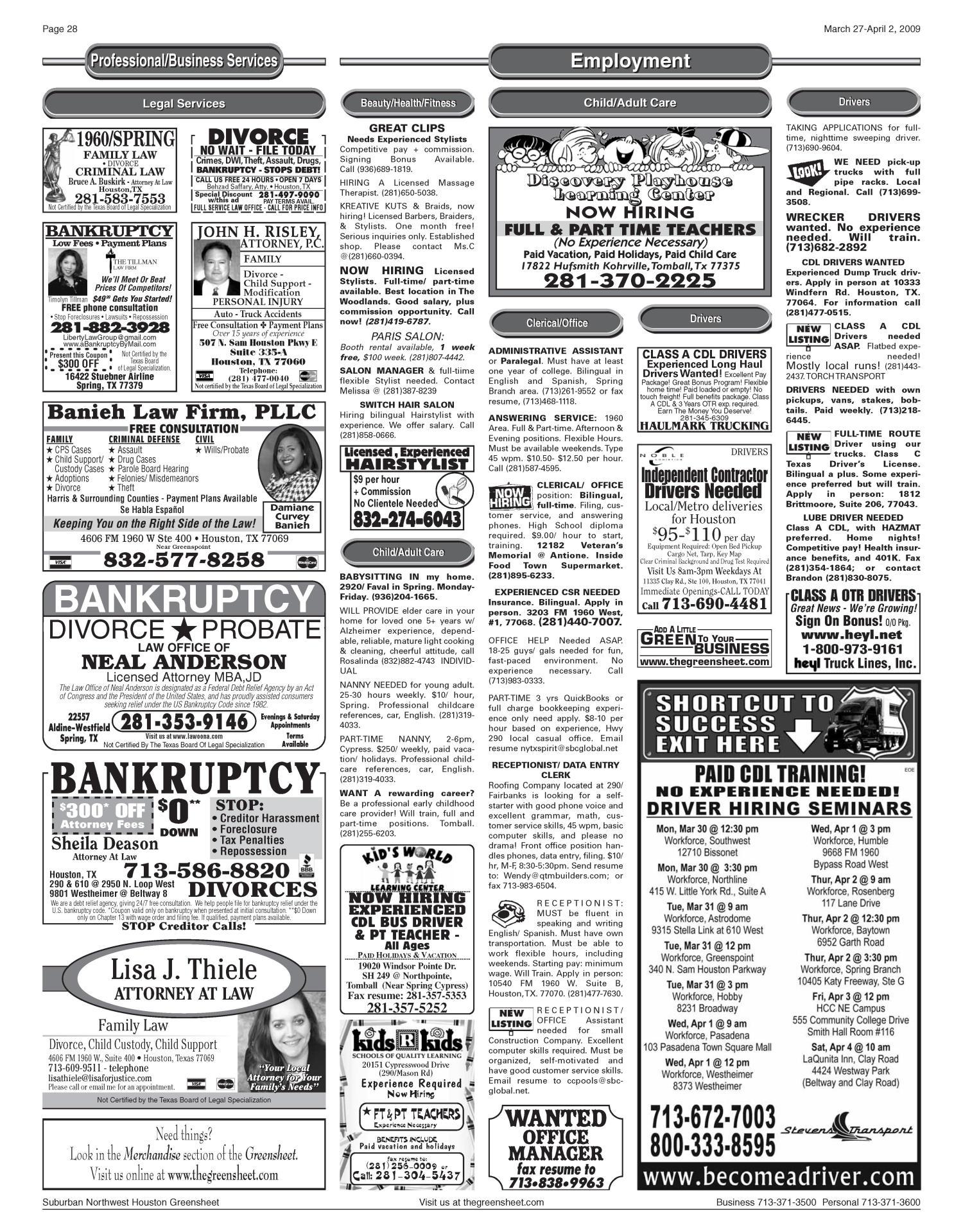 Greensheet (Houston, Tex ), Vol  40, No  96, Ed  1 Friday