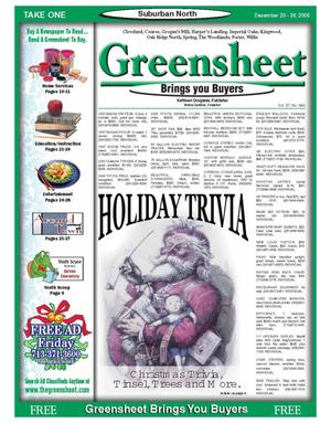 Primary view of object titled 'Greensheet (Houston, Tex.), Vol. 37, No. 546, Ed. 1 Wednesday, December 20, 2006'.