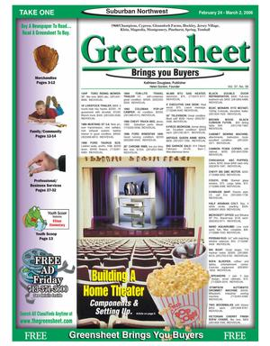 Primary view of object titled 'Greensheet (Houston, Tex.), Vol. 37, No. 36, Ed. 1 Friday, February 24, 2006'.
