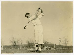 Primary view of object titled '1930's Golfer During a Swing'.