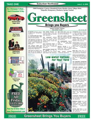 Primary view of object titled 'Greensheet (Houston, Tex.), Vol. 37, No. 204, Ed. 1 Friday, June 2, 2006'.