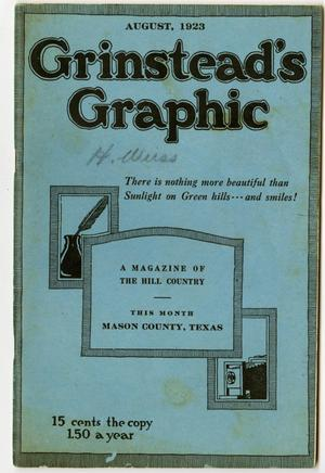 Primary view of object titled 'Grinstead's Graphic, August, 1923'.