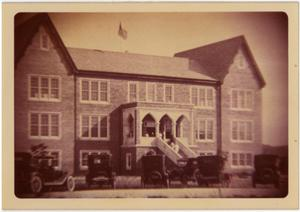 Primary view of object titled 'the Admin. Building (Weir), 1920's (?)'.