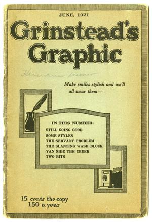 Primary view of object titled 'Grinstead's Graphic, June 1921'.