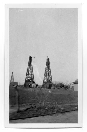 Primary view of object titled 'Gulf Oil Derricks'.