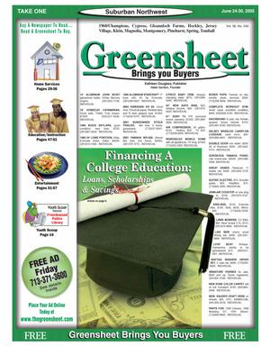 Primary view of object titled 'Greensheet (Houston, Tex.), Vol. 36, No. 240, Ed. 1 Friday, June 24, 2005'.